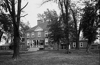 Greenfields (Cecilton, Maryland) - Greenfields, HABS Photo, October 1936