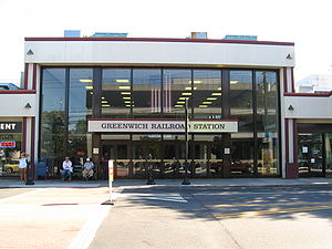 Greenwich (Metro-North station) - Front entrance