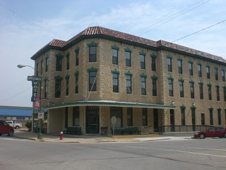 Eureka, Kansas - Image: Greenwood hotel Eureka KS