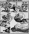 Grue cartoon anticipating downfall of Jack Johnson (August 6 1909).jpg