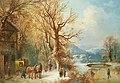 Guido Hampe - Kutsche und Pferde in einer Schneelandschaft.jpg