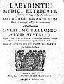Guillaume de Baillou, Labyrinthi medici... Wellcome L0014378.jpg