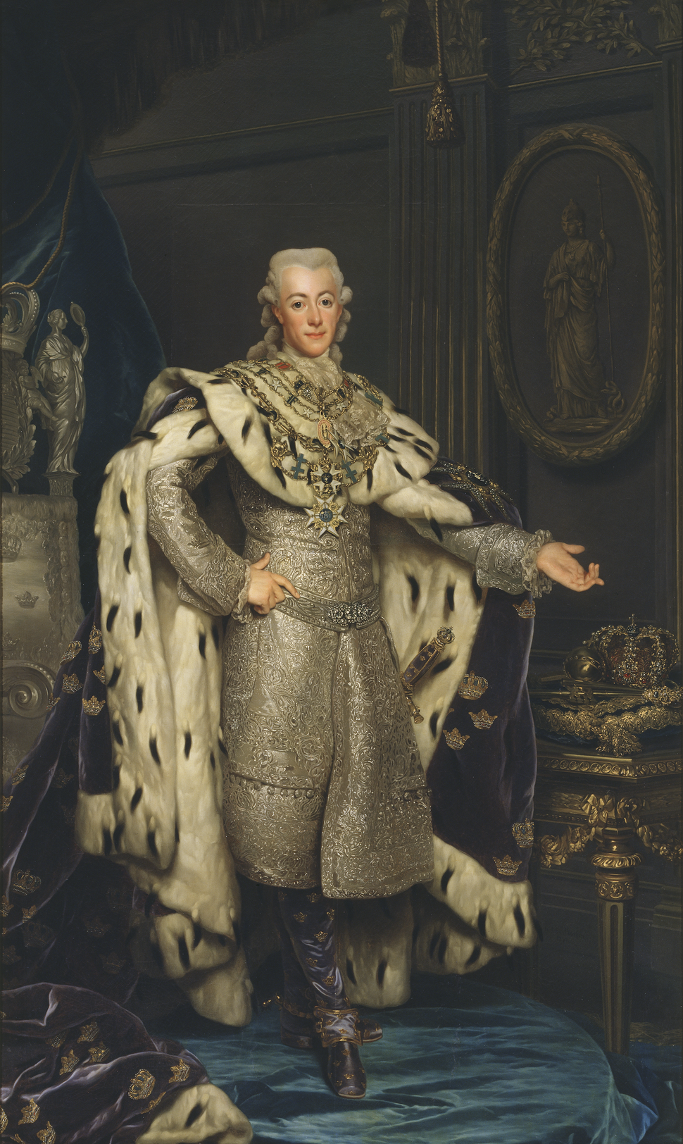 Gustav III by Alexander Roslin - no frame (Nationalmuseum, 15330)