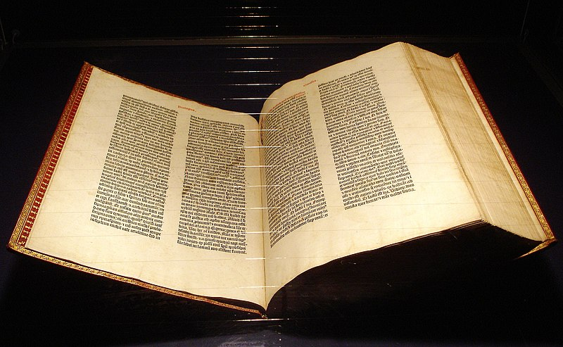 Ofbyld:Gutenberg Bible Mainz Copy.jpg