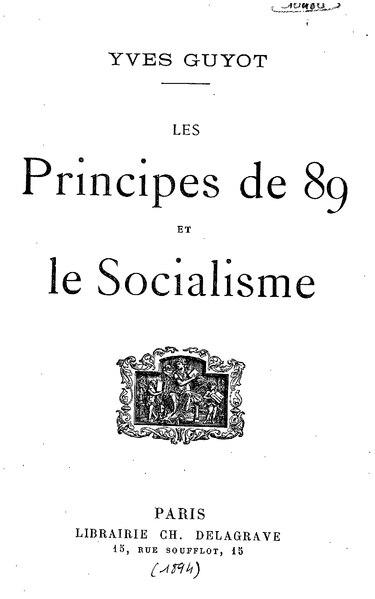 File:Guyot - Les principes de 89 et le socialisme.djvu