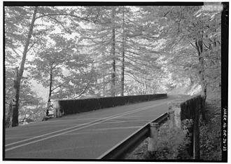 Bridal Veil Falls (Oregon) - Bridal Veil Falls Bridge on the Historic Columbia River Highway