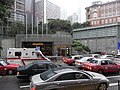 HK 中環 Central Bank of China Building view 皇后大道中 Queen's Road Central 長江集團中心 Cheung Kong Centre food centre traffic jam June-2010.JPG