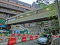 HK Mid-levels Pok Fu Lam Road HKU Campus n footbridge n MTR Station construction site Mar-2013.JPG