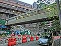 HK Mid-levels Pok Fu Lam Road HKU Campus n footbridge n MTR Station construction site Mar-2013.JPG