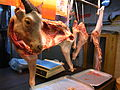 HK Sheung Wan Market 羊肉 Lamb meat with Head May-2012.JPG