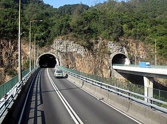 Shing Mun Tunnels - Image: HK Shing Mun Tunnel Flyover