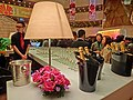 HK TST 香港文化中心 Hong Kong Cultural Centre night desktop lamp n Moet cocktail party red roses flowers Feb-2013.JPG