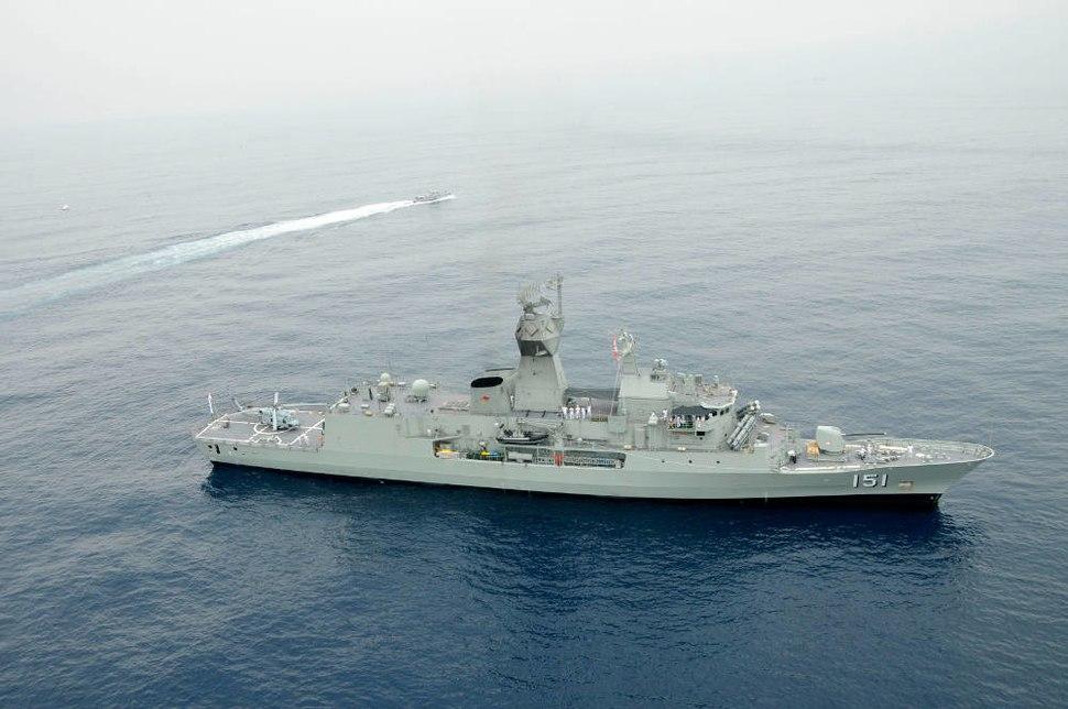 HMAS Arunta off Vizag during AUSINDEX 2015