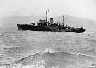 HMAS <i>Lithgow</i> (J206) Bathurst-class corvette