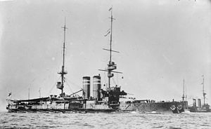 HMS King Edward VII - King Edward VII underway