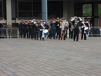 Royal Marines Band Service - HMS Seahawk Volunteer Band at the 2016 Royal Navy Volunteer Band Association Festival at the Portsmouth Guildhall