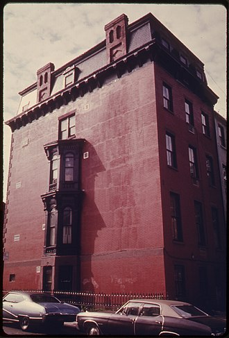 Park Slope - House in Park Slope, 1974. Photo by Danny Lyon.