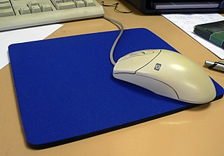 Mousepad surface for placing and moving a computer mouse