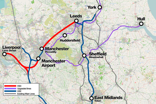 High Speed North Proposed railway network