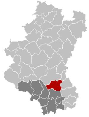 Habay - Image: Habay Luxembourg Belgium Map