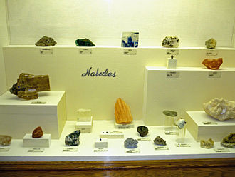 Halide minerals - Halide specimens at Museum of Geology, South Dakota