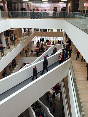 Halifax Central Library - Inside the library looking down from the fourth floor