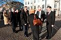 Halldor Asgrimssonoch Jan-Erik Enestam halsar sina kollegor i Aspen Ministers Forum valkomna till Nordiska radet och Nordiska ministerradet.jpg