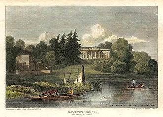 Garrick's Temple to Shakespeare - Garrick's Villa and Temple in 1815