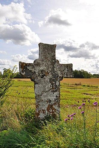 Dalhem, Gotland - Image: Hans Kroks kors Dalhem