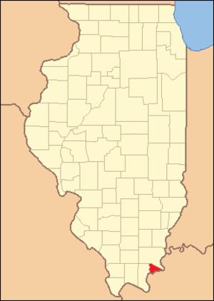Hardin County, Illinois - Image: Hardin County Illinois 1839