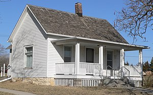 National Register of Historic Places listings in Pawnee County, Nebraska - Image: Harold Lloyd birthplace from SE 2