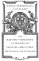 Harvard University Child Memorial Library bookplate.png