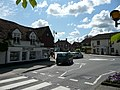 Haslemere Road and Portsmouth Road mini-roundabout in Liphook, Hampshire, England.jpg