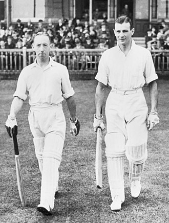 Keith Johnson (cricket administrator) - Hassett (left) and Sismey, the captain and commanding officer of the team respectively