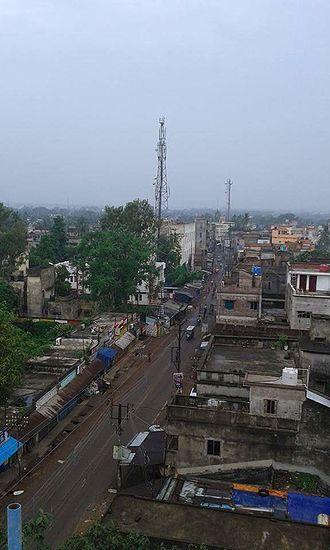 Sainthia - Hat Tala area of the town.