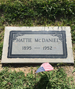 Hattie McDaniel - Grave of McDaniel at Angelus Rosedale Cemetery