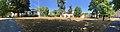 Haugar Tønsberg Norway Villa Møllebakken (1890) summer drought dry lawn Stoltenbergs gate (background) distorted panorama photo 2018-07-21 A.jpg