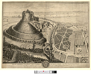Hawarden Castle (18th century) - Hawarden Castle and New Hawarden Castle, 1740