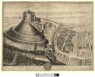 Hawarden Castle (18th century) - Hawarden Castle and New Hawarden Castle, 1740