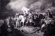 Feldmarschall Herzog von Wellington in der Schlacht bei Waterloo, Kupferstich von Thomas Heaphy (Quelle: Wikimedia)