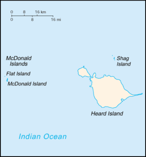 Geography of the Heard and McDonald Islands - Map of Heard and McDonald Islands