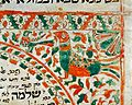 Hebrew MS A2, bird. Detail from Ketubbah Wellcome L0030971.jpg