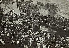 Лорд Бальфур выступает на церемонии открытия Еврейского университета в Иерусалиме на горе.  Scopus