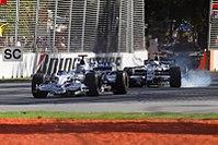 Nick Heidfeld a Nico Rosberg při Grand Prix             Austrálie 2008