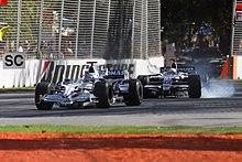 Nick Heidfeld kaj Nico Rosbergdum Grand Prix de Aŭstralio 2008