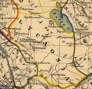 Lycaonia - Heinrich Kiepert. Asia citerior. Lycaonia, 1903