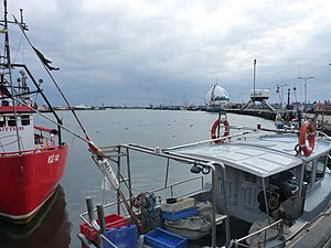 Hel, Poland - Image: Hel harbour from dockside