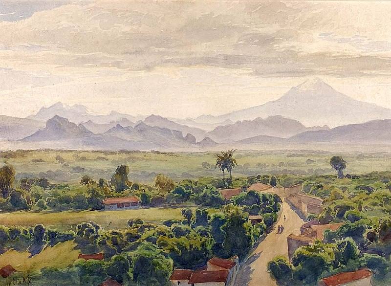 Henry Otto Wix - 'View of Cuernavaca', watercolor, Smithsonian American Art Museum