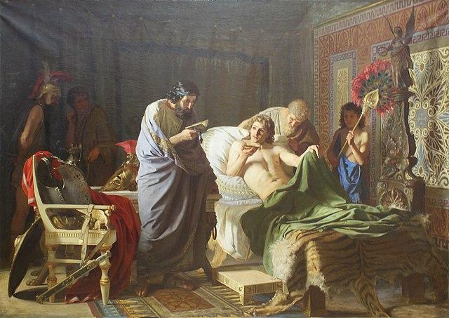 Доверие Александра Македонского к врачу Филиппу (худ. Г. Семирадский, 1870)