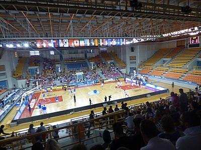 Heraklion Indoor Sports Arena or Dyo Aorakia Stadium Heraklion Indoor Sports Arena During the 2015 FIBA Under-19 world Championship 2.jpg